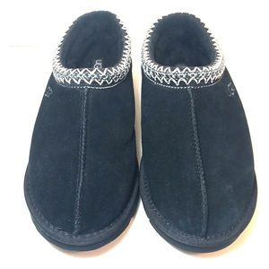 Ugg Black Shearling Suede Tasman Slipper Shoes